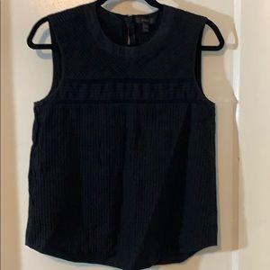 Jcrew black sleeveless top
